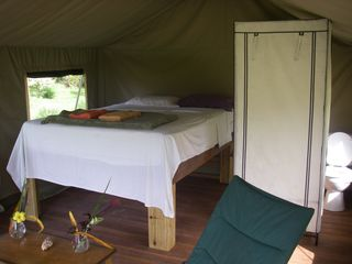 Bocas del Toro cabin photo - Inside th Eco Tent with Queen Bed and Bath
