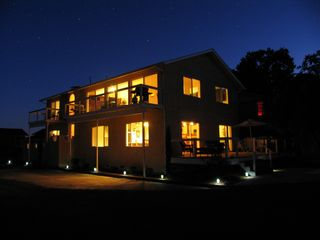 Lakeport house photo - home at night
