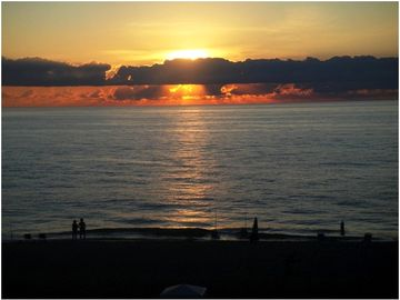 Catch a sunrise over the Atlantic like this one as seen from our deck!