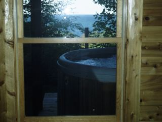 Cheboygan lodge photo - Hot Tub overlooking everything!