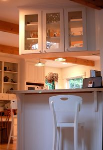 Wonderful Lighting and Cabinetry in the Kitchen
