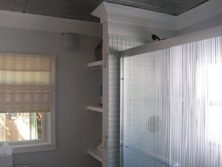 Ocean Springs cottage photo - Shower with 2 separate shower heads at Lagniappe Cottage.