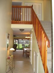 Deerfield Beach townhome photo - Front entry, bedrooms upstairs. Washer and dryer at top of landing