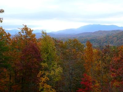 Fall view from back deck . . .