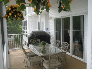 Osage Beach condo photo - Plenty of room fo staying outdoors, with ceiling fan too!