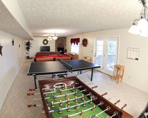 Massanutten house photo - Large Game room / Screened in lower deck.