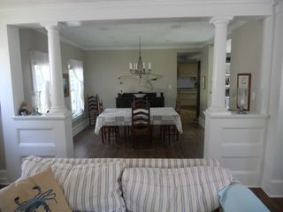 Cape Charles house photo - Open floor plan - from family room looking into the sunny dining room