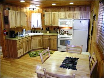 Kitchen and Dining Area in the Back Cabin
