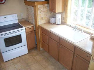 Estes Park cabin photo - Kitchen sink and stove in small cabin
