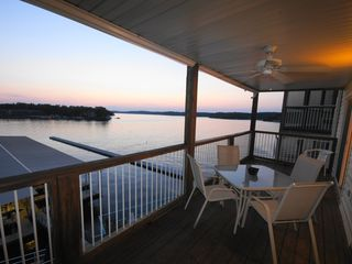 Osage Beach condo photo - The Deck overlooks the Point Pool and the Lake's Main Channel. Relax & Enjoy!