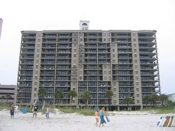 The SouthWind rear view from beach/ocean (my unit is the top right corner).
