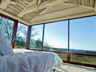 Chilmark house photo - Glass Doors Open To Patio & Path To Outdoor Shower