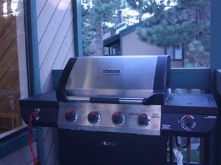 Mammoth Lakes condo photo - Gas BBQ available year round, located on upper level deck.
