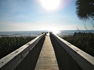 Surfside Beach condo photo - Enjoy ocean views and sea breezes from the large living room