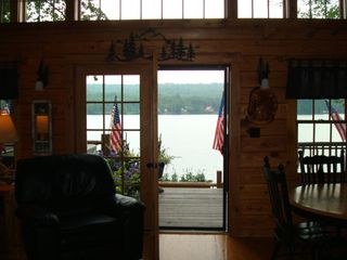 Lunenburg cabin photo - .View looking out to lake from kitchen area.