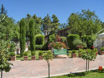 A well manicured garden