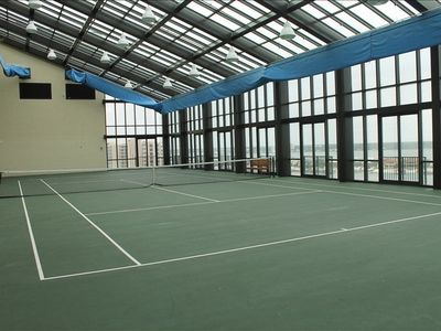 The only condo with a climate controlled tennis Center
