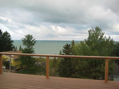 New Buffalo house rental - View from the master bedroom deck