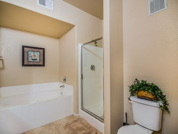Master en suite, full bath with separate bath tub, separate shower