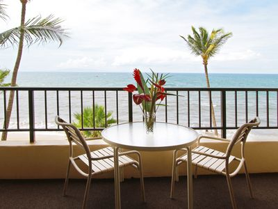 Oceanfront condo at Sugar Beach Resort. This is the view from your lanai!