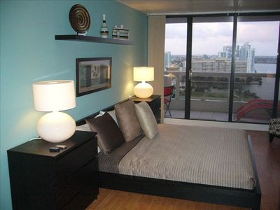 Spacious Master Bedroom with dressing area and walk-in closet...more Bay views