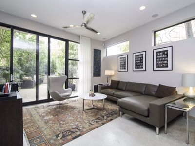 Contemporary interior layout with modern amenities and furnishings.