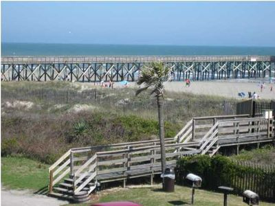 Beach access and fishing pier