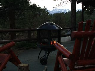 Estes Park cabin photo - Incredible Mtn. views while you sit in your rocking chair and roast marshmallows