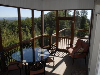 Lake Jocassee house photo - View from screened in porch