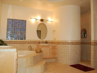 Albuquerque house photo - Master bath with jetted tub & snail shower
