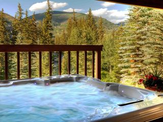 Vail house photo - 6-person Private Spa under cover from the elements with fantastic views!