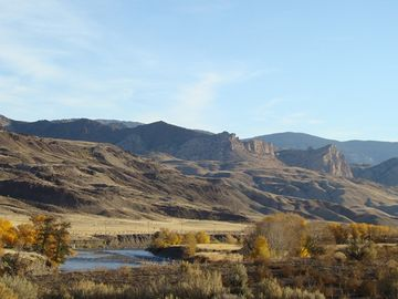 View Of The Shoshone River At Ranch