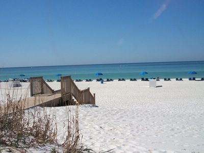 Sugar white sand meets the Emerald  Gulf of Mexico!