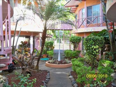 A View of our unique and cozy gated courtyard!