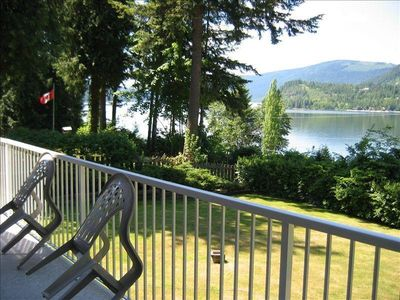 stunning upper balcony view of Mara Lake and large back yard