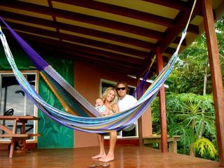 Playa Zancudo house photo - Relaxing in Hammock on the Covered Deck