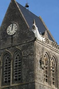 Parachutist depicting 6th June Ste Mere Eglise