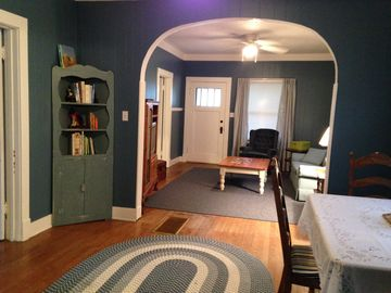 Des Moines cottage rental - Dining and Living Area
