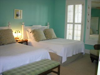 Daufuskie Island cottage photo - Oceanside Master with two queen beds and private bathroom