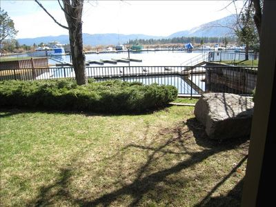 Tahoe Keys townhome rental - View from family room and back porch.