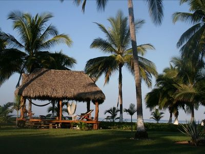 private 250 sq ft beachside palapa