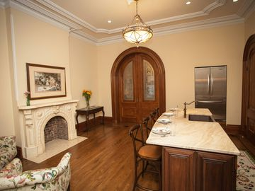 Jersey City apartment rental - Kitchen with doors to Murphy Bedroom closed