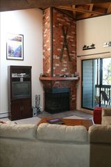 Silverthorne condo photo - Relax by the fireplace.