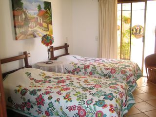 Puerto Vallarta condo photo - Beautiful second Bedroom and patio with 2 Twins or 1 King