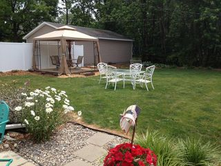 South Haven cottage photo - Great screened gazebo in backyard!