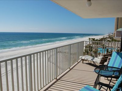 LARGE wrap-around balcony with wonderful east and west views!!
