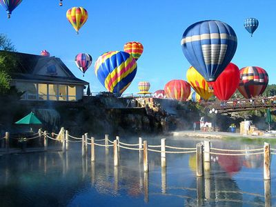 Ballooning or Soaking in the Hot Springs
