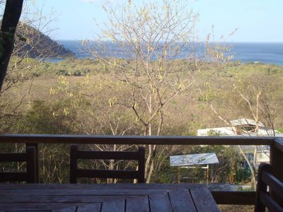 View over Bahia Gigante from the casita azul deck