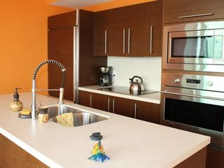 Puerto Vallarta condo photo - FULLY EQUIPPED KITCHEN, ITALIAN WOOD , GE DESIGNER APPLIANCES