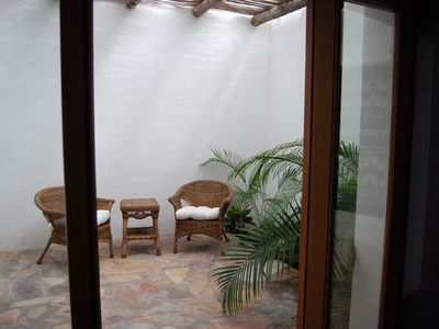 Patio off of bedroom.